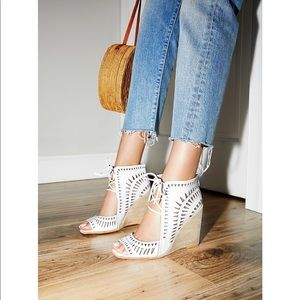 Serena Wedge Free People Jeffrey Campbell Sz 8